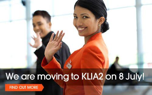 ジェットスターのクアラルンプール発着便がKLIA2に移転1